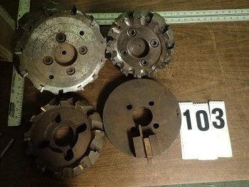 3 Indexable Carbide Face Mills & 1 10\