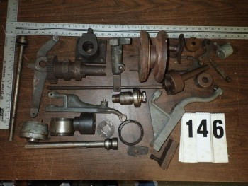 Bin of Lathe Parts - Brown & Sharpe, Warner Swasey