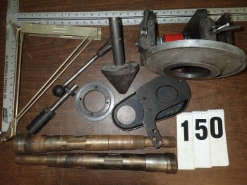 Assorted Machine Parts incl Brown & Sharpe, Warner Swasey
