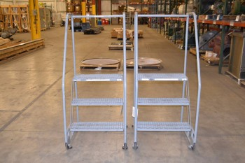 LOT OF 2 TILT AND ROLL COTTERMAN LADDERS