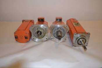 LOT OF 4 ASSORTED ABB SERVO MOTORS