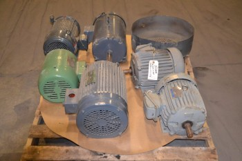 1 PALLET OF ASSORTED AC ELECTRIC MOTORS