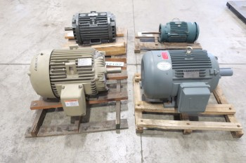 4 PALLETS OF ASSORTED MOTORS GE RELIANCE WORLDWIDE 7.5HP-60HP