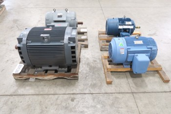 LOT OF 4 ASSORTED ELECTRIC MOTORS 25HP-150HP