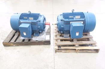 LOT OF 2 SIEMENS ELECTRIC MOTORS, RGZESD 150HP