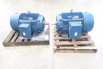 LOT OF 2 SIEMENS ELECTRIC MOTORS, RGZESD 150HP