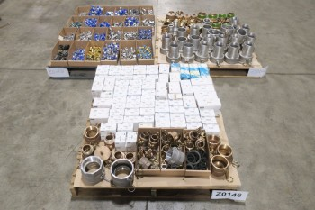 3 PALLETS OF ASSORTED PNEUMATIC PIPE FITTINGS