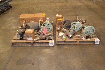 2 PALLETS OF ASSORTED STAINLESS VALVES
