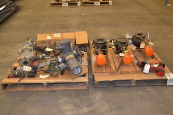 2 PALLETS OF ASSORTED STEEL GLOBE VALVES