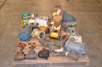 1 PALLET OF ASSORTED VALVES AND REPLACEMENT PARTS