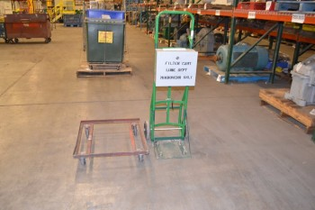LOT OF 2 ASSORTED STEEL CARTS