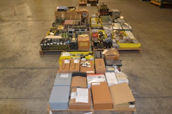 5 PALLETS OF ASSORTED ELECTRICAL CONTROLS