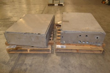 LOT OF 2 HOFFMAN WALL-MOUNT ELECTRICAL ENCLOSURES