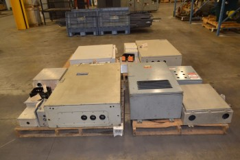 4 PALLETS OF ASSORTED ELECTRICAL ENCLOSURES