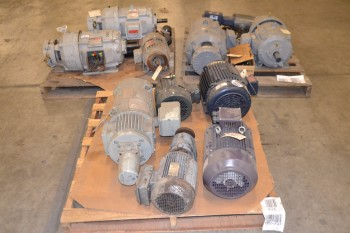 3 PALLETS OF ASSORTED AC/DC MOTORS, 1/4 HP-26 HP