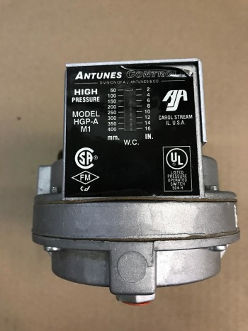 Antunes Controls Gas Pressure Switch