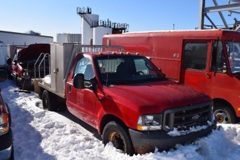 2004 FORD F350 SUPER DUTY VIN 1FDSF34L64EC49498 5.4L AUTOMATIC PICKUP FLAT DECK TRUCK