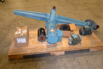 LOT OF 5 ASSORTED AC ELECTRIC MOTORS, .5 HP-.85 HP