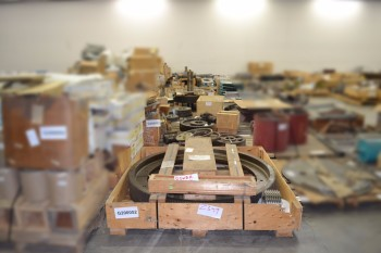 13 PALLETS OF ASSORTED POWER TRANSMISSION, GEARS, SHEAVES