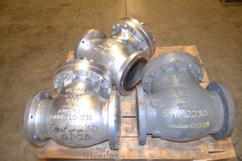 LOT OF 3 VELAN SWING GATE CHECK VALVES