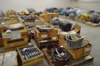 11 PALLETS OF ASSORTED VALVES, FLANGES AND PIPES
