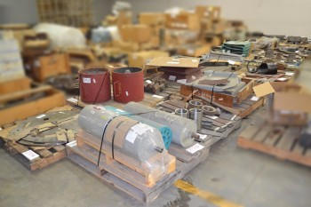 26 PALLETS OF ASSORTED STEEL, LINERS, PLATES, RODS, ROLLERS