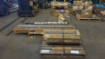 7 PALLETS OF ASSORTED SHAFT REPLACEMENT PARTS