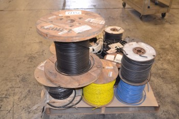 LOT OF ASSORTED ELECTRICAL WIRE