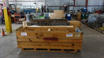 LOT OF ASSORTED CRATES OF SHAFTS, WIEGAND HEATERS, SHOCK ABSORBENTS