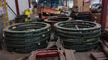2 STACKS OF 72 IN SLIP ON PRESSURE BOUNDARY FLANGES