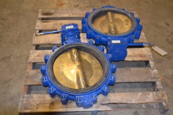 LOT OF 2 KEYSTONE BUTTERFLY VALVES, 16 IN, FLANGED