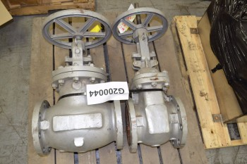 LOT OF 2 NEWCO 6IN 150 FLANGED STEEL GATE VALVE
