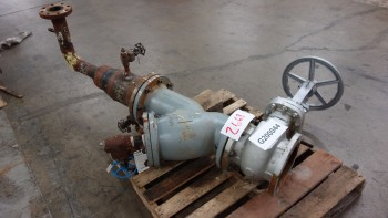 NEWCO 11F-CN42-NC 8IN 150 STEEL FLANGED GATE VALVE W/ 8IN STRAINER