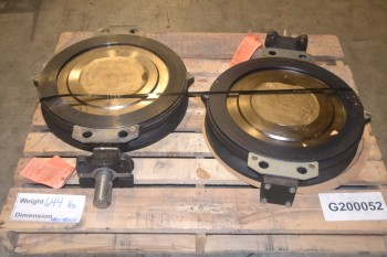 LOT OF 2 KEYSTONE K-LOK 360-589 BUTTERFLY VALVES