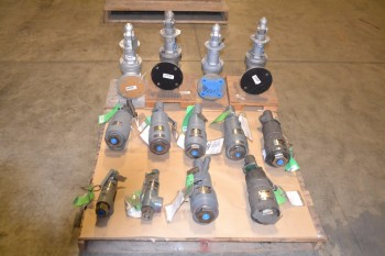 1 PALLET OF ASSORTED RELIEF VALVES 50PSI, 54PSI, 3950PSI