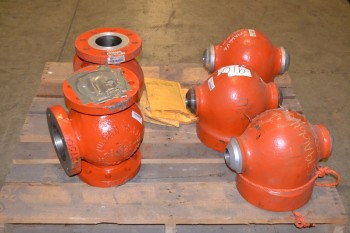 LOT OF 5 ASSORTED COPES VULCAN VALVE BODIES
