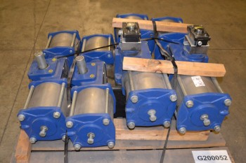 LOT OF 4 MORIN B-2700-D000 PNEUMATIC ROTARY ACTUATORS