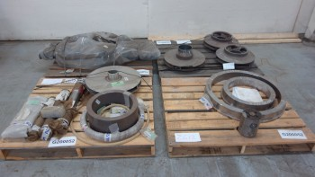 4 PALLETS OF ASSORTED STAINLESS PUMP PARTS, IMPELLERS, SEALS