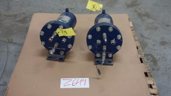 LOT OF 2 JOHN CRANE LHXP-0625-CRN 1500PSI HEAT EXCHANGER