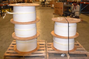 LOT OF 5 SPOOLS OF TRILOGY COMMUNICATIONS CABLE-WIRE