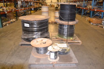 LOT OF 6 ASSORTED SPOOLS OF CABLE-WIRE