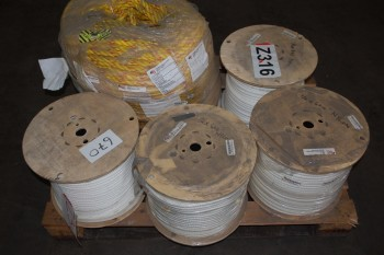 LOT OF ASSORTED BRAIDED NYLON ROPE
