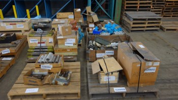 8 PALLETS OF ASSORTED HARDWARE, BOLTS, STUDS, NUTS, SUPER BOLTS