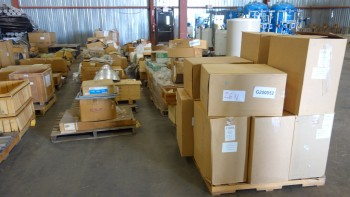 21 PALLETS OF ASSORTED MISCELLANEOUS EQUIPMENT