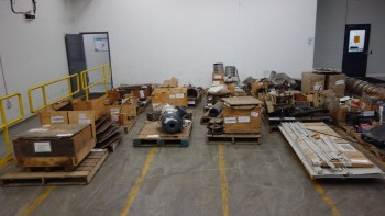 21 PALLETS OF ASSORTED MISCELLANEOUS STEEL, PLATES, BEAMS, ROLLERS