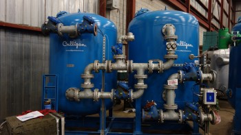 CULLIGAN WASTEWATER DISCHARGE TREATMENT SOLIDS FILTRATION TANK