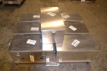LOT OF 7 CROUSE-HINDS ELECTRICAL MOUNTING PANELS