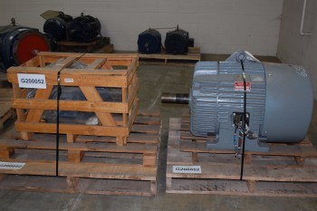 LOT OF 2 AC ELECTRICAL MOTORS, TECO-WESTINGHOUSE 60HP 286T 575V-AC