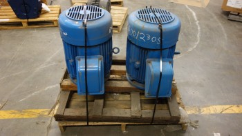 LOT OF 2 TECO WESTINGHOUSE 364T 60HP 575V-AC 3PH AC ELECTRIC MOTORS
