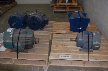 LOT OF 5 ASSORTED 15-50HP 575V-AC AC ELECTRIC MOTORS, GE